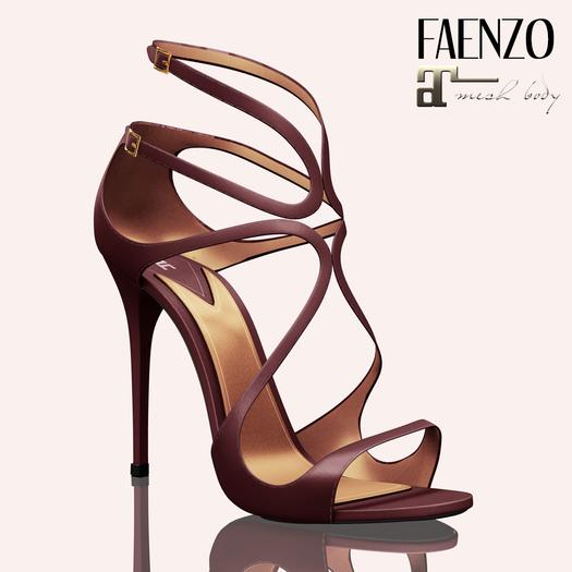 Faenzo Doux Strappy Sandals - Aubergine