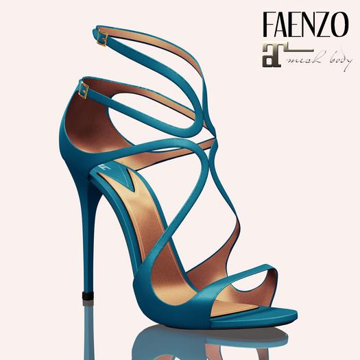Faenzo Doux Strappy Sandals - Blue