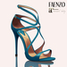Faenzo Doux Strappy Sandals - Blue