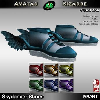 AB Skydancer Shoes with color HUD (SLink enhanced)