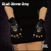 [Sassy KItty Designs] Skull Gloves Grey