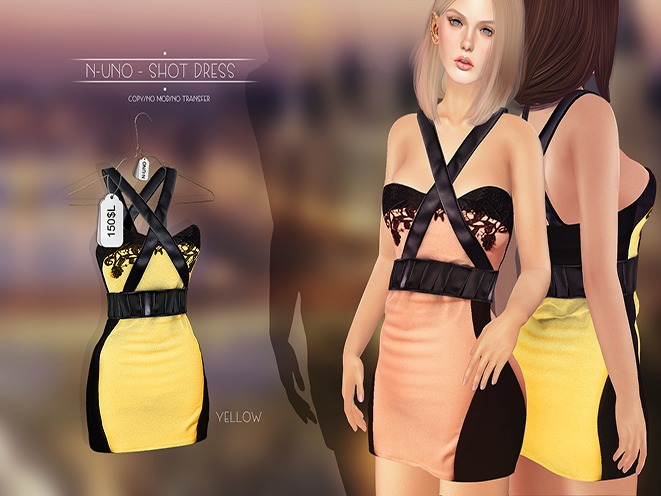 N-Uno - Shot Dress Yellow