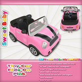 Sweet Baby - Tiny Car Ride On - Pink