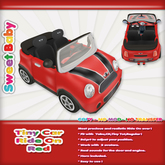 Sweet Baby - Tiny Car Ride On - Red