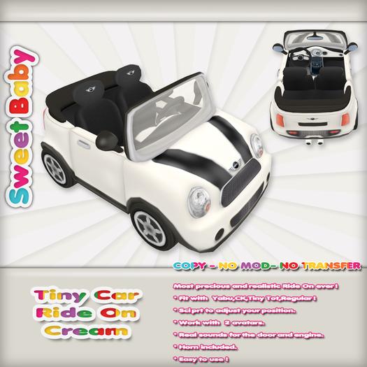 Sweet Baby - Tiny Car Ride On - Cream
