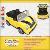 Sweet Baby - Tiny Car Ride On - Yellow