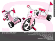Sweet Baby - Tricycle Mesh - Kids and Adults Pink