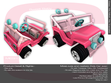 Sweet Baby - Kid Car Mesh Bright Pink