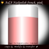 A&A Finger & Toenail Polish, french, classic pink, transferable