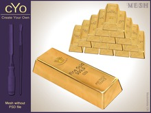 cYo Gold Bars | Ingot, full perms meshes, materials and textures