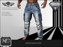 Ripped jeans clear - (NIRAMYTH) - AESTHETIC
