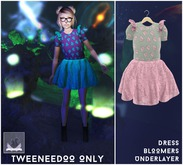 :BoWillow: Watermelon Dress PINK & GRAY