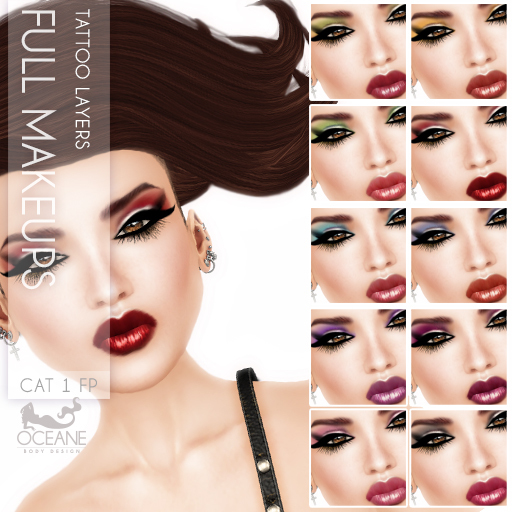 Oceane - Cat Full Makeup Layers (10x)  Fat Pack
