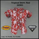 ::BASHY:: Mens Tropical Shirt for Aesthetic DEMO