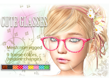 Cute Glasses+.* [MESH]