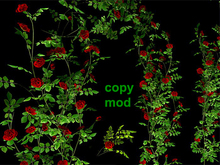 Climbing Rose Pack - Red - Copy Mod