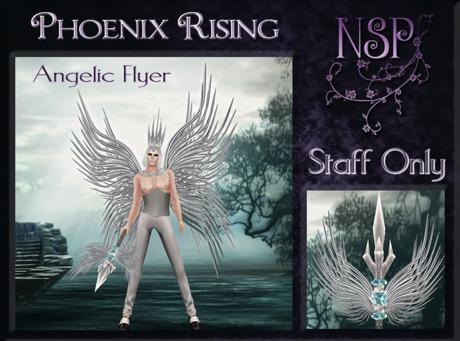 NSP Phoenix Rising Angelic Flyer (Staff) Boxed