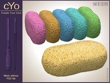 cYo Sponge, full perms mesh, material and textures