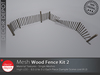[DD] - FULL PERM  Wood Fence Kit 2