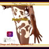 The Seventh Exile - Dipped! Gloves: Chocolate - Omega & Maitreya Appliers ONLY!