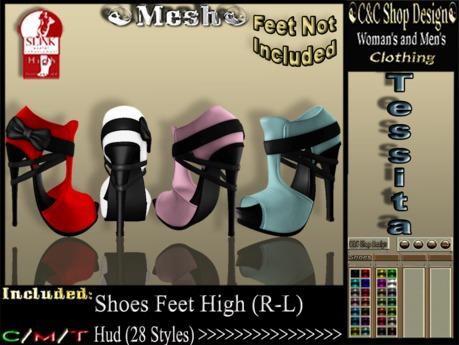 C&C Mesh Tessita Hud (28 Styles)