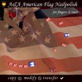 A&A American Flag Nailpolish set for finger&toenails transferable