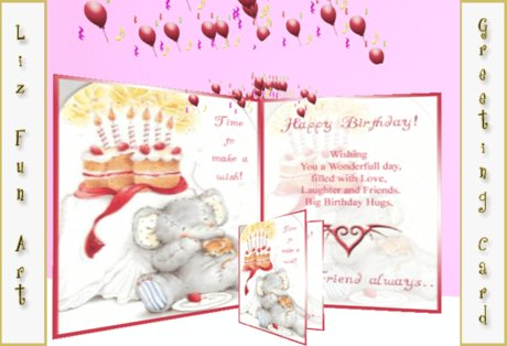 Happy Birthday Card Cute with personal message