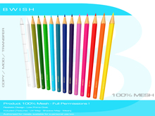 BWish - Coloured Pencils 12 Colours Mesh