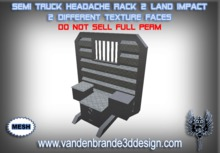 ~Full perm SEMI truck Headache Rack MESH