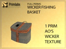 full perms  wicker fishing basket