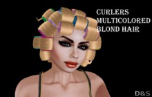 D&S design Curlers  multicolored blond hair