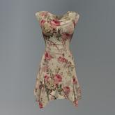 Beige Cabbage Rose Garden Mesh Dress box