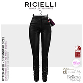 Ricielli - Moira Leather Fitted Pants / Total Black