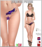 .::f  tiche petite::. Stomach Tattoo feather(Appliers)