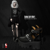Goth1c0: Karma Ankle Boots for Slink Flat Feet