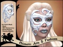 Ice Swirl Mask (White)