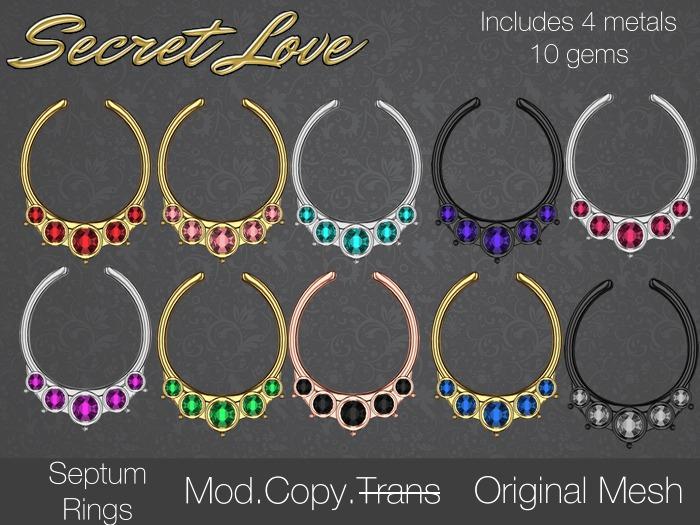 {Secret Love} Septum Ring (Original Mesh)