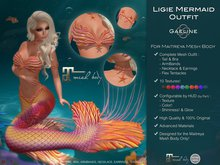 Gaeline Clothes - Ligie Mermaid Outfit [MAITREYA]: express your charm and sensuality !
