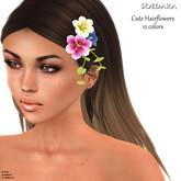 ~Soedara~ Cute Hairflowers//12 colors