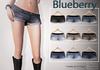 Blueberry cuffed denim shorts
