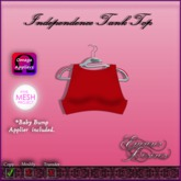 *E.D.* Independence Tank ~ Red/Blue Bow