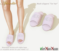 """Aphrodite """"HER"""" MESH slippers (open)"""
