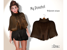 Una.Ripped Poncho Brown