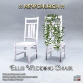 :: N :: Ellis Wedding Chair - White