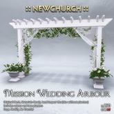 :: N :: Mission Wedding Arbour - White