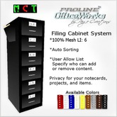 ProLine OfficeWorks Mesh File Cabinet - Blk