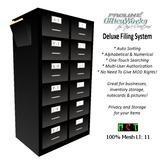 ProLine Deluxe Mesh File Cabinet - Black