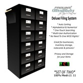 ProLine Deluxe Mesh File Cabinet Pair - Black