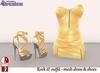 Stressless - Rock it! outfit Gold (Mesh dress + Slink high heels)