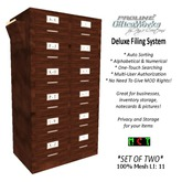 ProLine Deluxe Mesh File Cabinet Pair - Wood